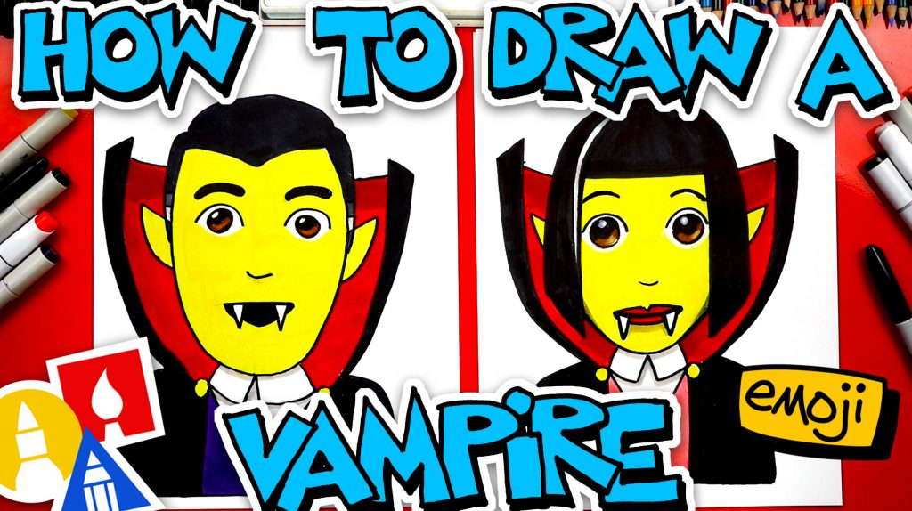 How To Draw A Vampire Emoji 🧛‍♂️🧛‍♀️