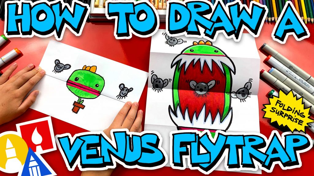 How To Draw A Venus Flytrap Folding Surprise
