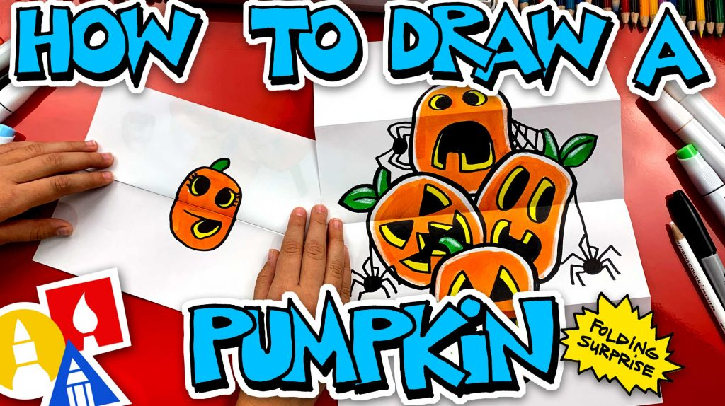 How To Draw A Pumpkin Stack Folding Surprise