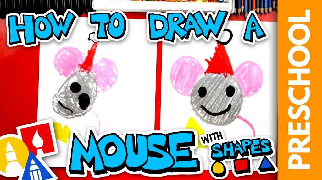 Drawing A Christmas Mouse – Preschool