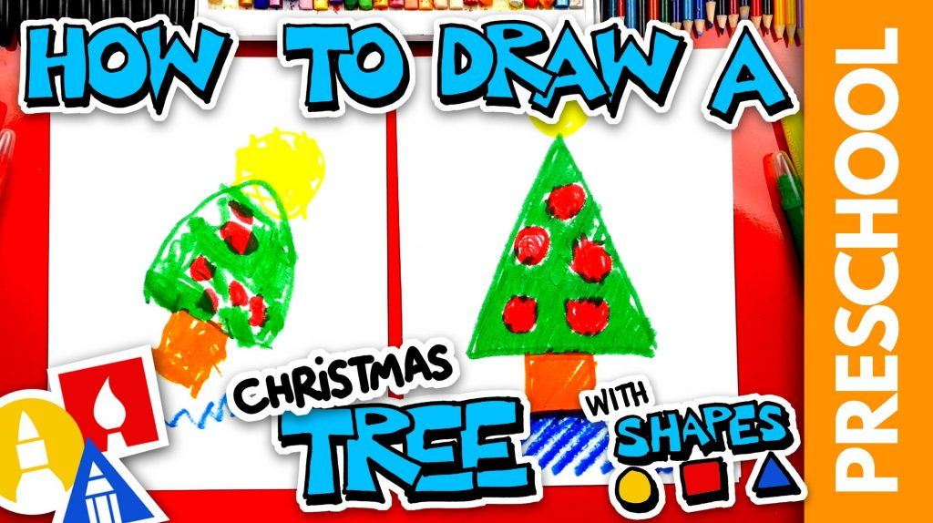 Drawing A Christmas Tree – Preschool