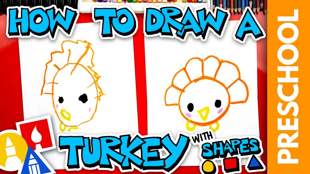 Drawing A Turkey With Shapes – Preschool