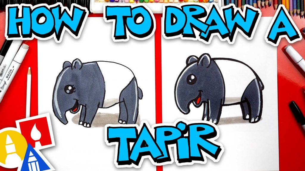 How To Draw A Cartoon Tapir