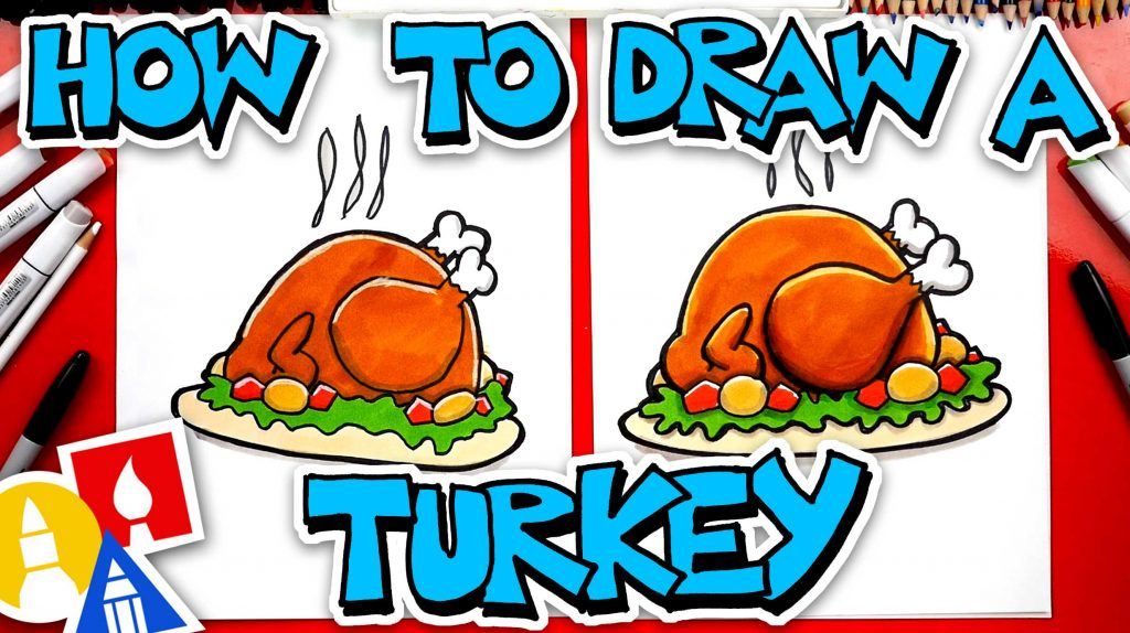 How To Draw A Cooked Turkey