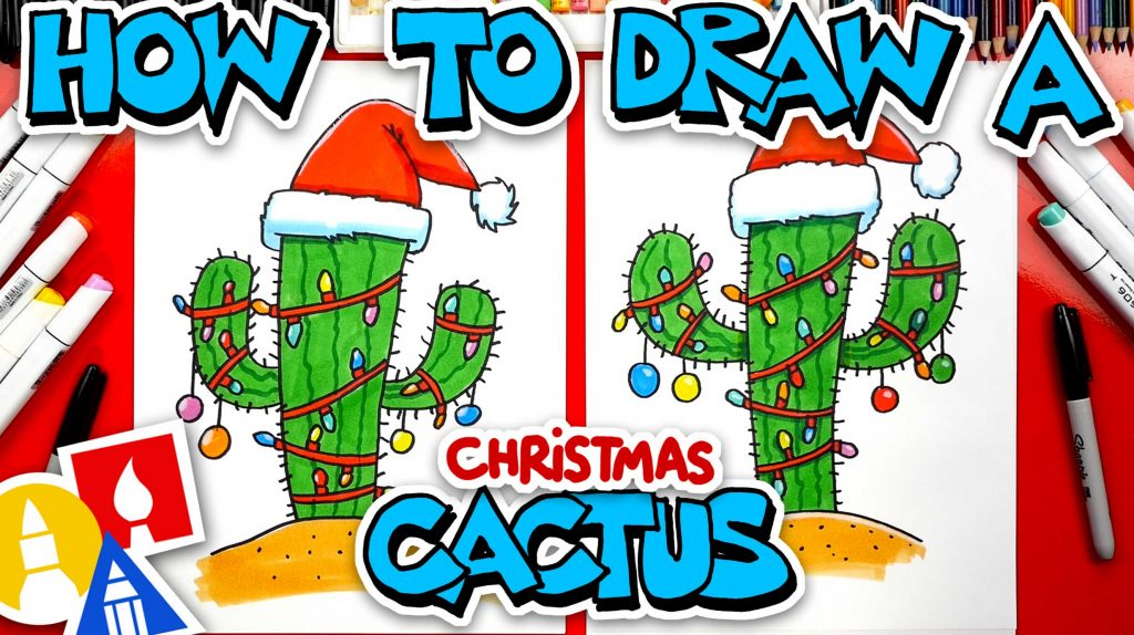 How To Draw A Christmas Cactus