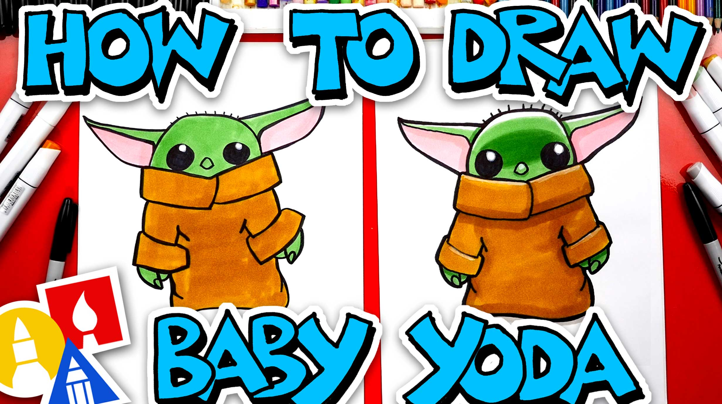 How To Draw Baby Yoda From The Mandalorian - Art For Kids ...