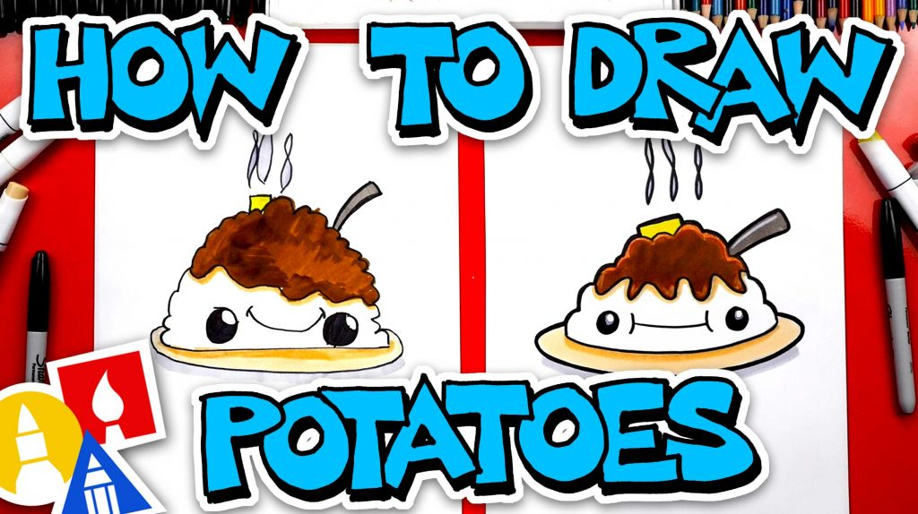 How To Draw Funny Mashed Potatoes