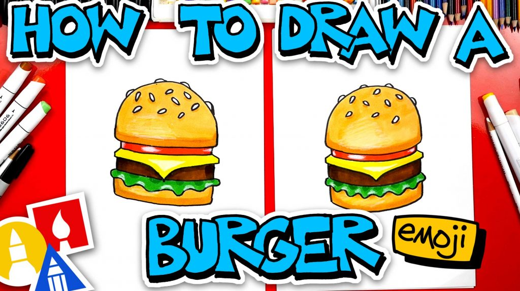How To Draw A Cheeseburger Emoji