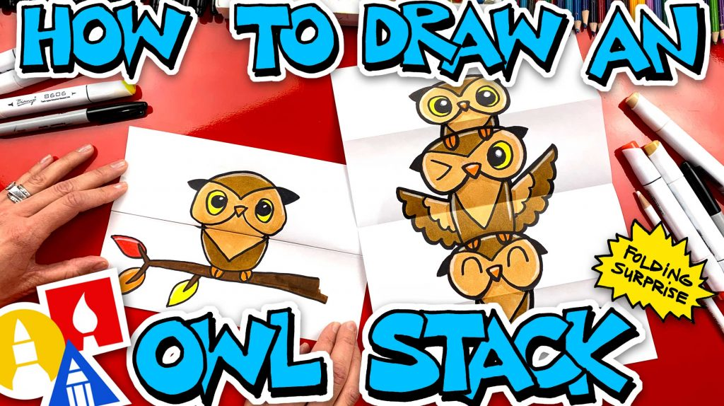 How To Draw An Owl Stack Folding Surprise (with Mrs. Hubs)