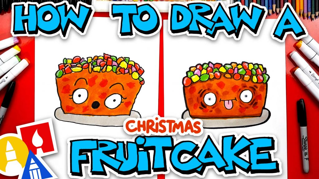 How To Draw A Funny Fruit Cake