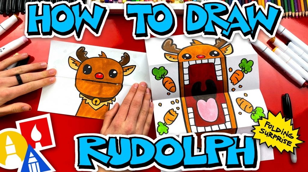 How To Draw A Rudolph Puppet – Folding Surprise