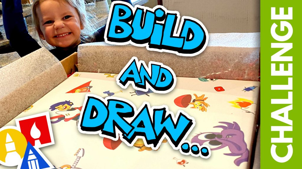 SUPER CHALLENGE-TIME: Build And Draw Together!