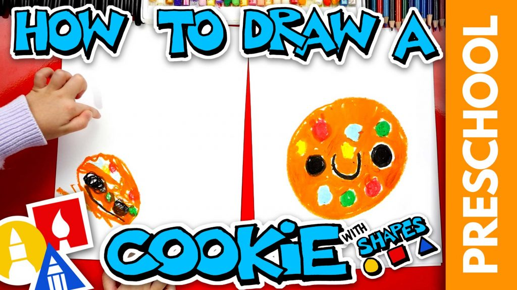 Drawing A Cookie With Shapes – Preschool