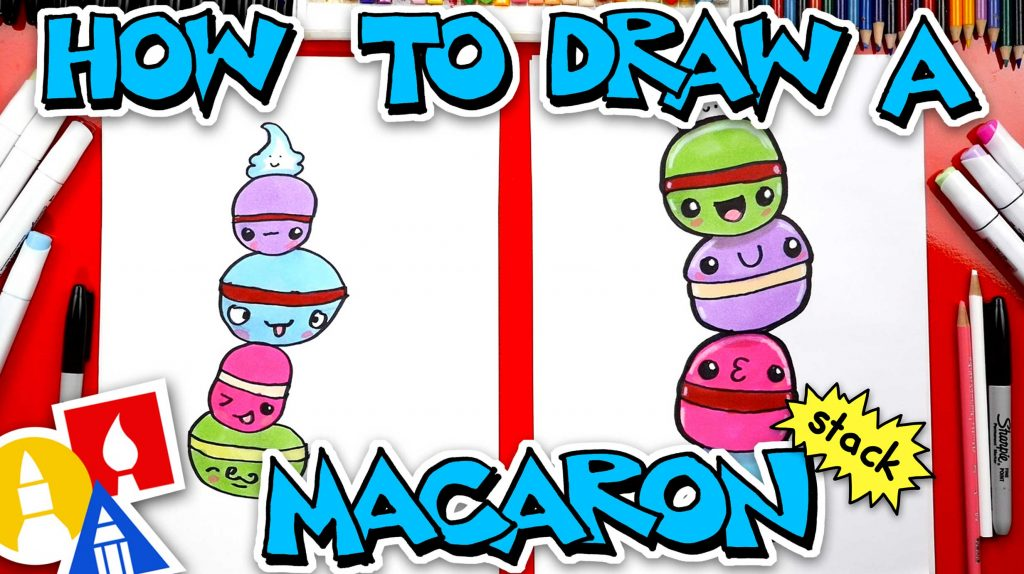 How To Draw A Cute Macaron Stack