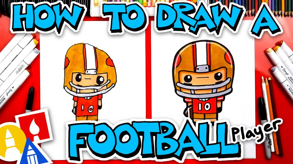 How To Draw A Cartoon Football Player