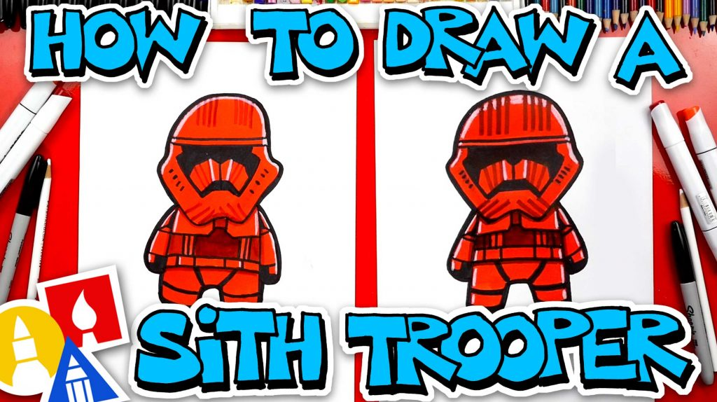 How To Draw A Sith Trooper