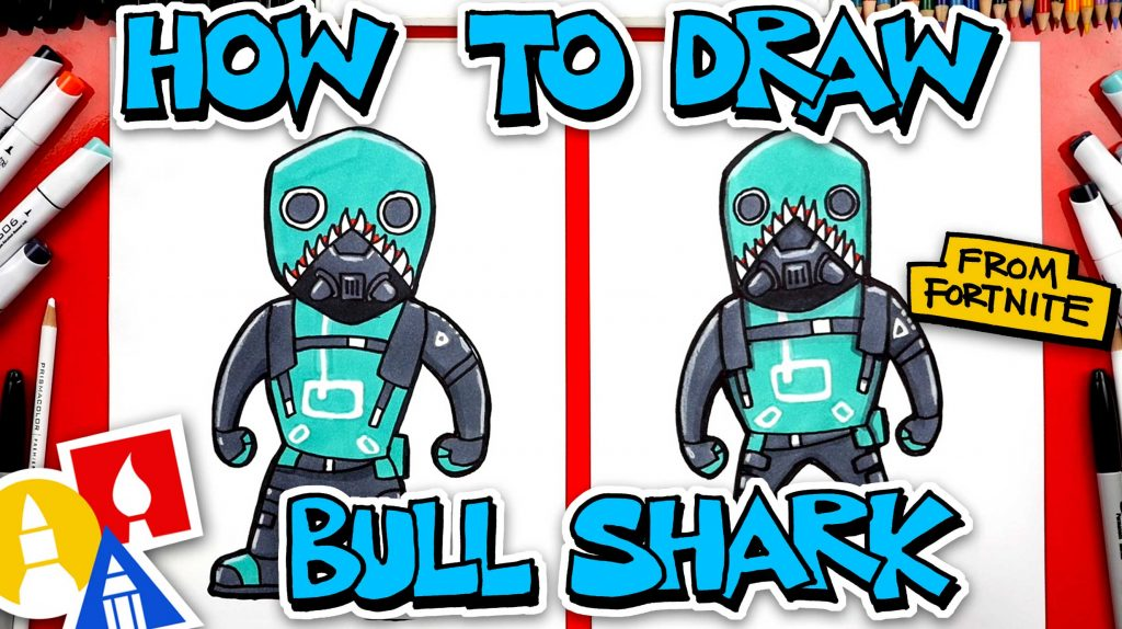 How To Draw Bull Shark From Fortnite