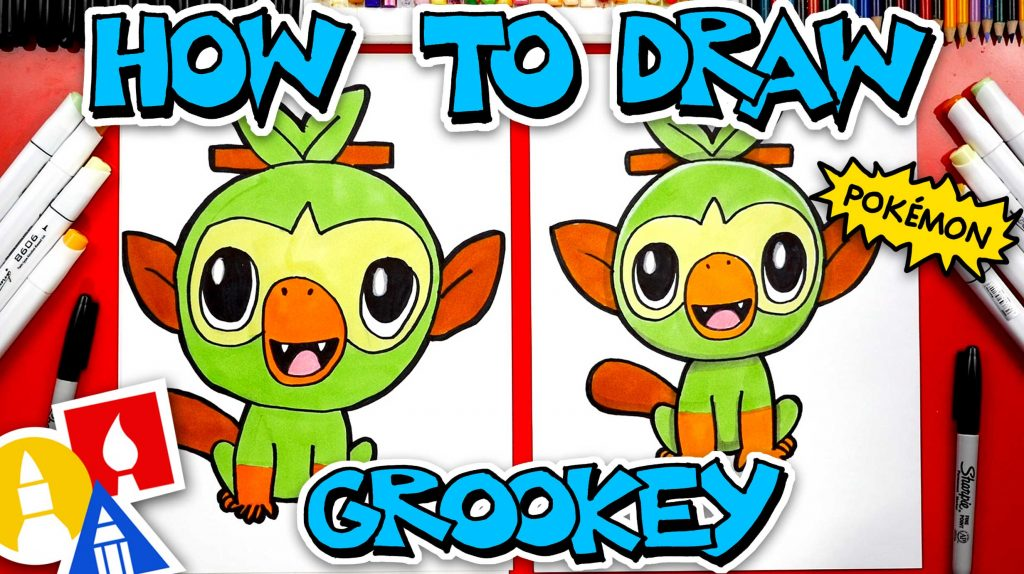 How To Draw Grookey Pokémon From Sword And Shield