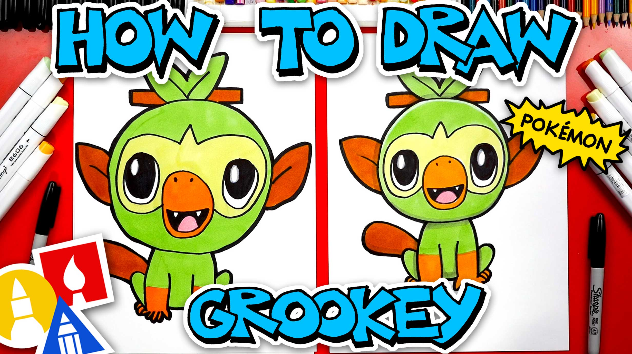 How To Draw Grookey Pokemon From Sword And Shield That's just a description of the pokémon. how to draw grookey pokemon from sword
