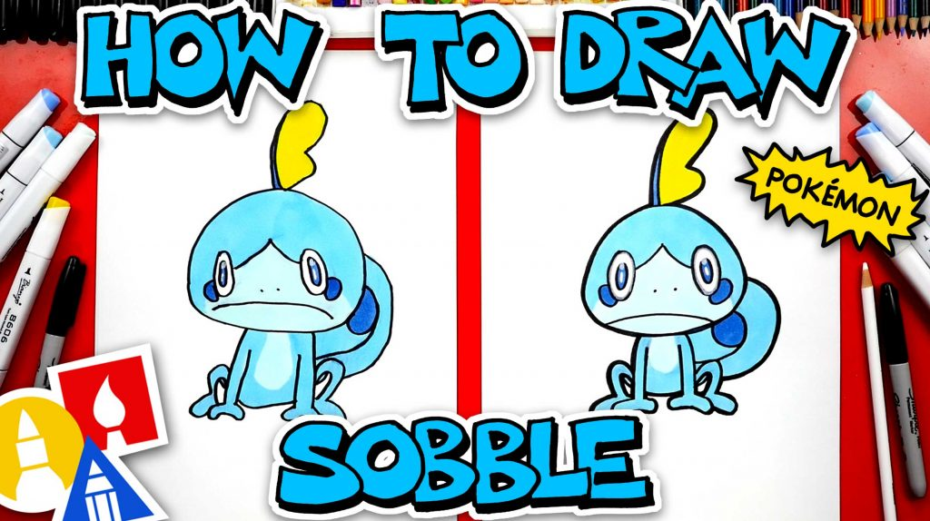 How To Draw Sobble Pokémon From Sword And Shield
