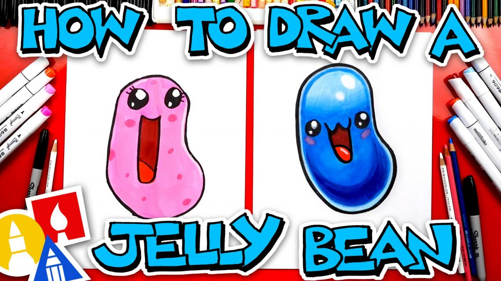How To Draw A Funny Jelly Bean
