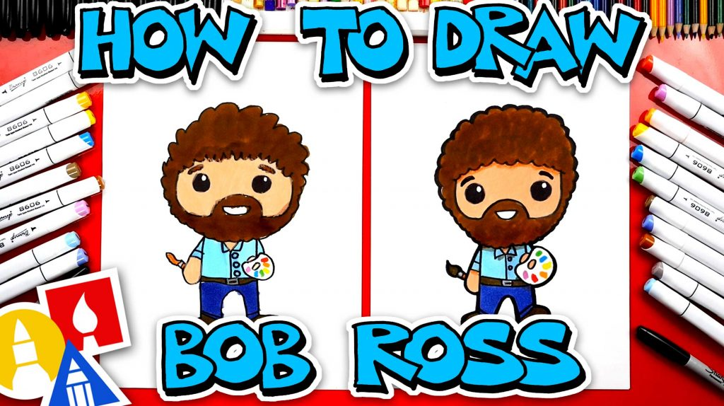 How To Draw Cartoon Bob Ross