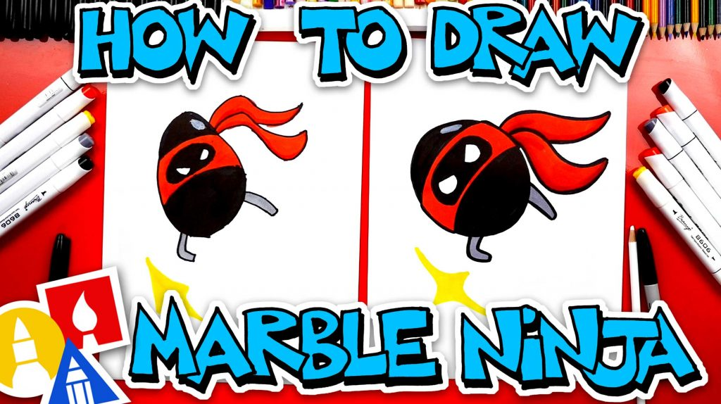 How To Draw Marble Ninja From YouTube Kids