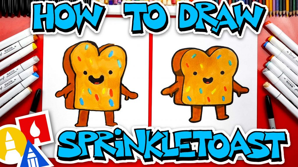 How To Draw Sprinkle Toast From YouTube Kids