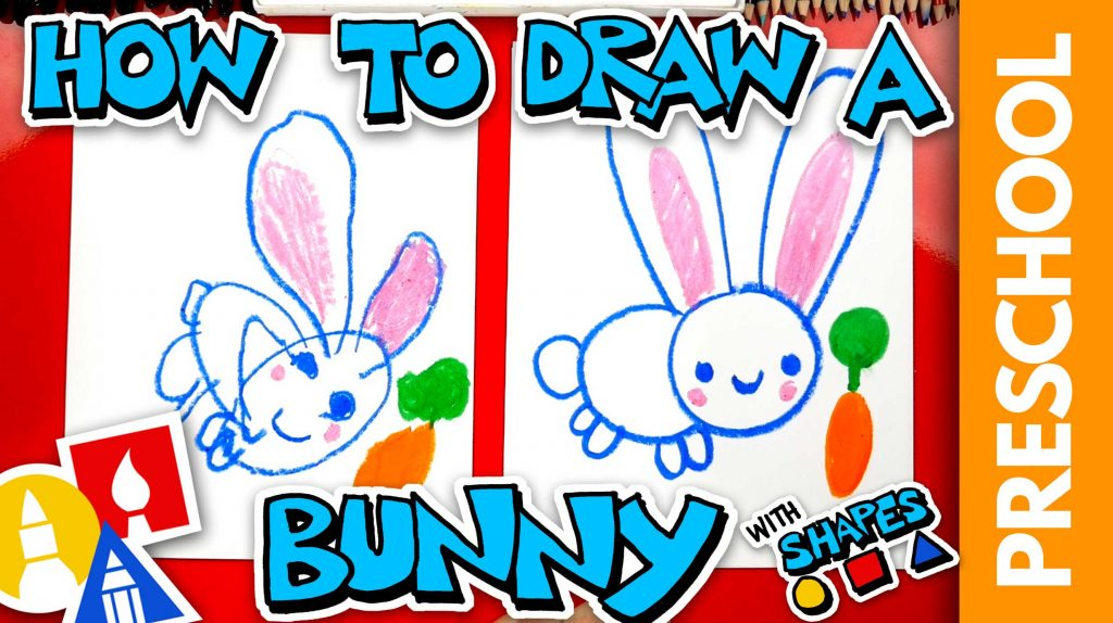 Drawing A Bunny With Shapes – Preschool