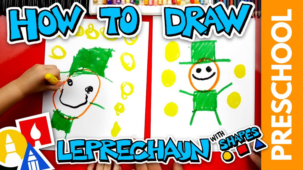 Drawing A Leprechaun Using Shapes – Preschool