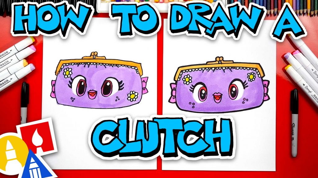How To Draw A Cute Clutch Purse