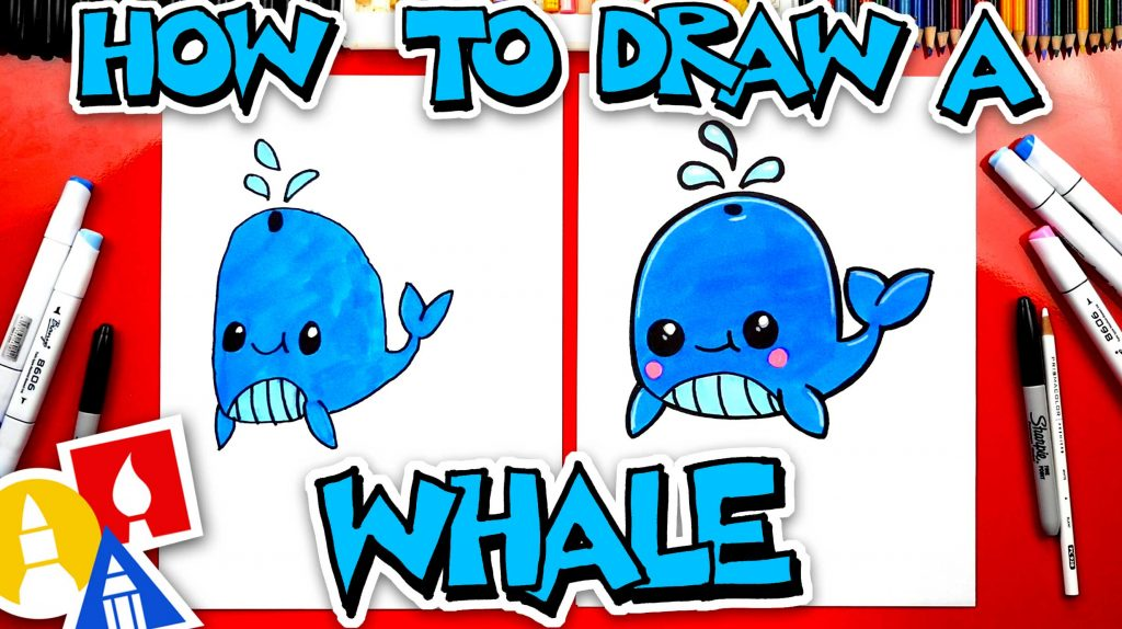 How To Draw A Funny Whale