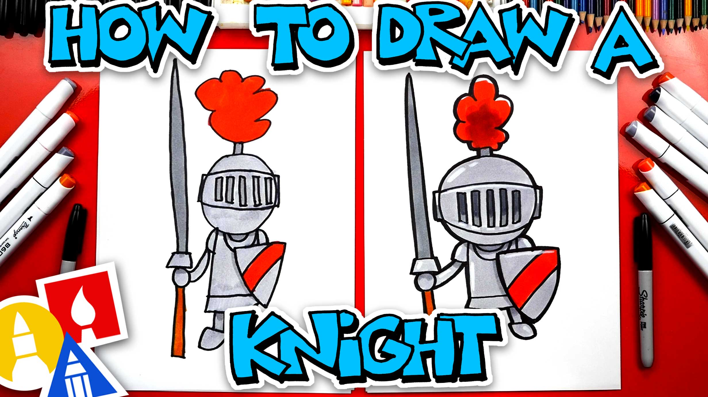 How To Draw A Knight In Shining Armor - Art For Kids Hub