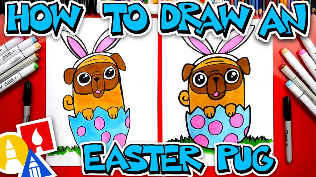 How To Draw An Easter Pug Bunny
