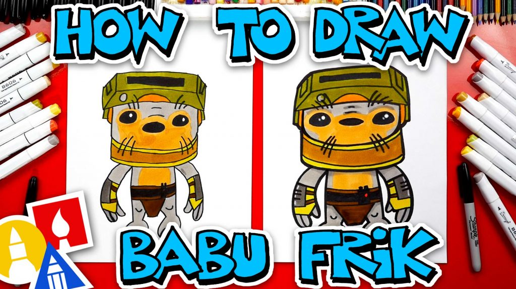 How To Draw Babu Frik From Star Wars: The Rise Of Skywalker