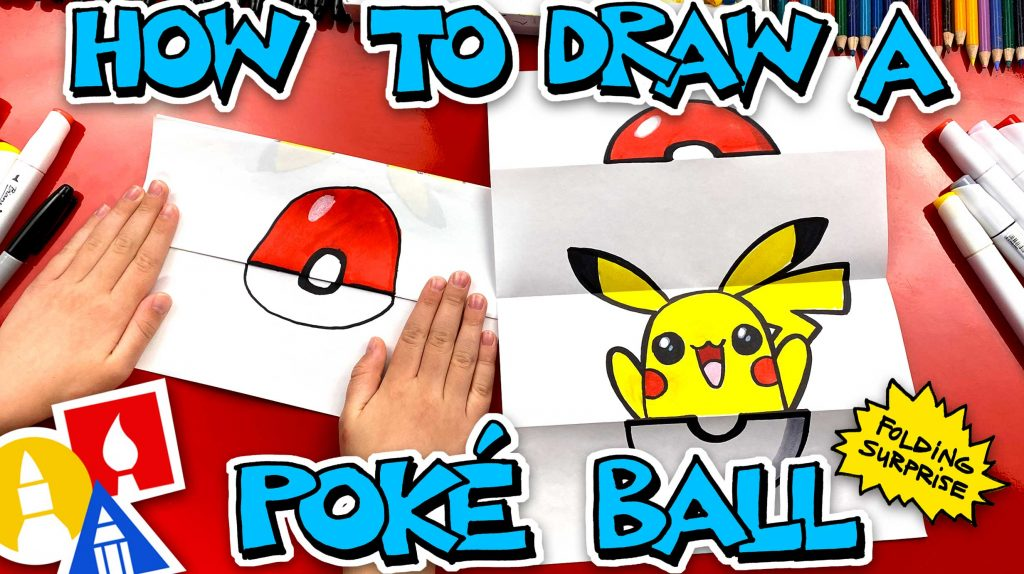 How To Draw A Poké Ball Folding Surprise