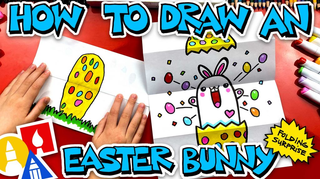 How To Draw An Easter Bunny Folding Surprise
