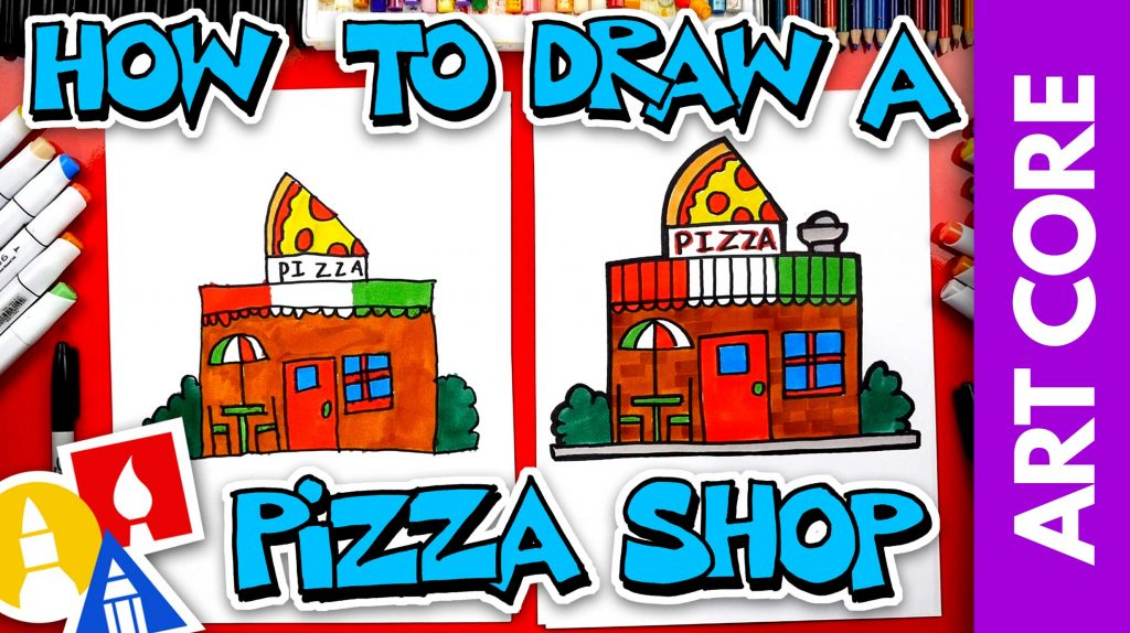 Art Core: Horizontal & Vertical Lines – How To Draw A Pizza Restaurant