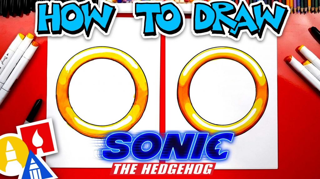 How To Draw A Ring From Sonic The Hedgehog Movie