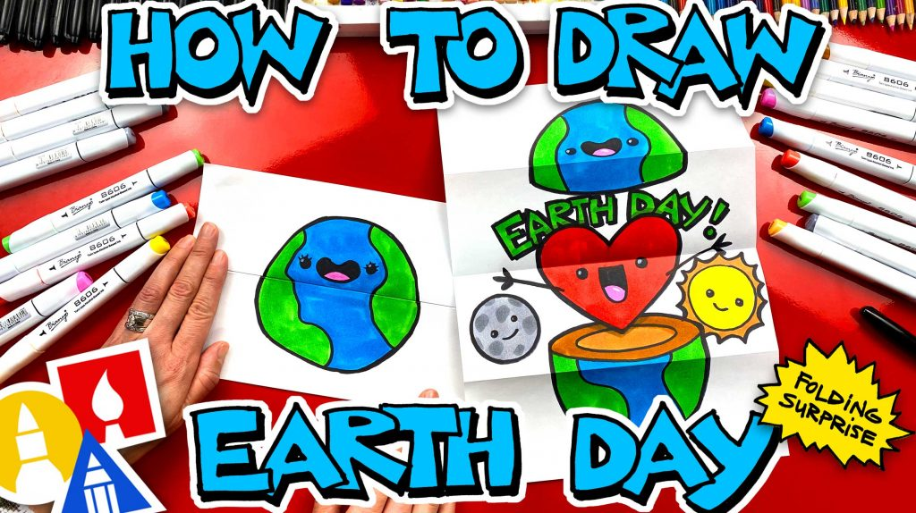How To Draw An Earth Day Folding Surprise