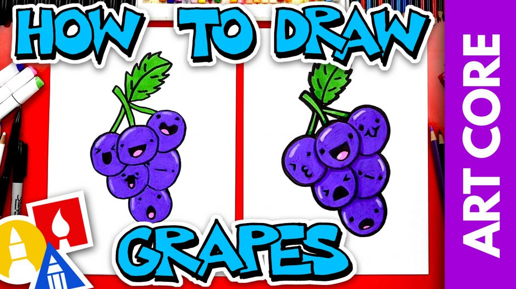 Art Core: Overlapping – How To Draw Funny Grapes