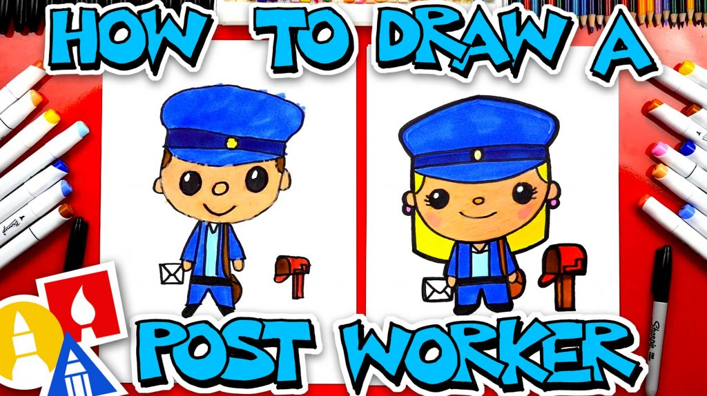How To Draw A Postal Worker