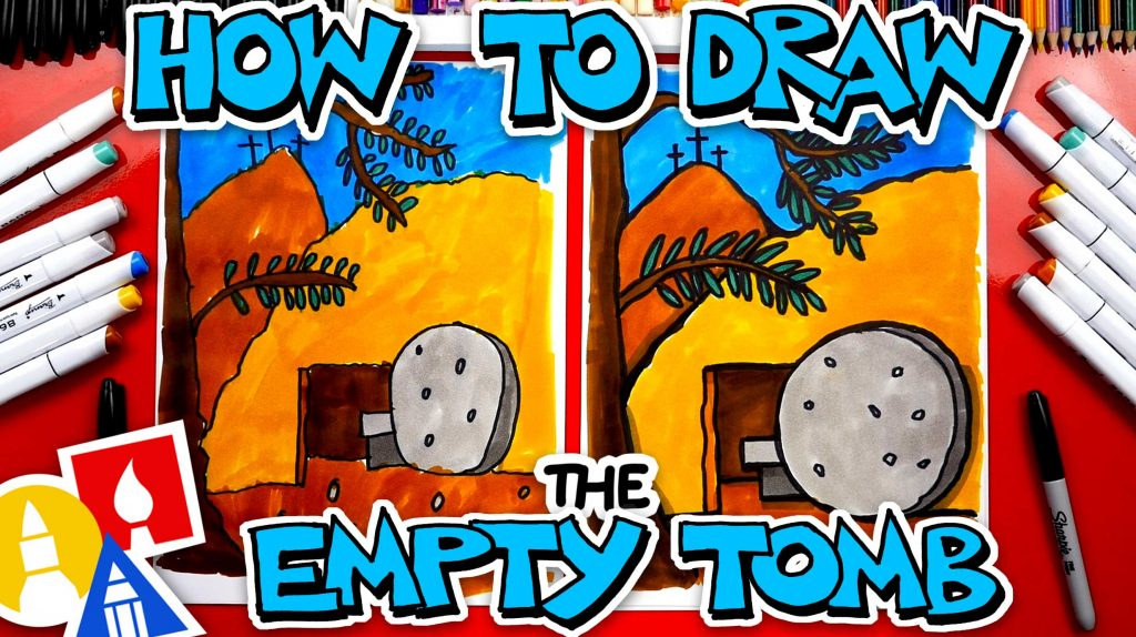 How To Draw The Empty Tomb – Happy Easter Week