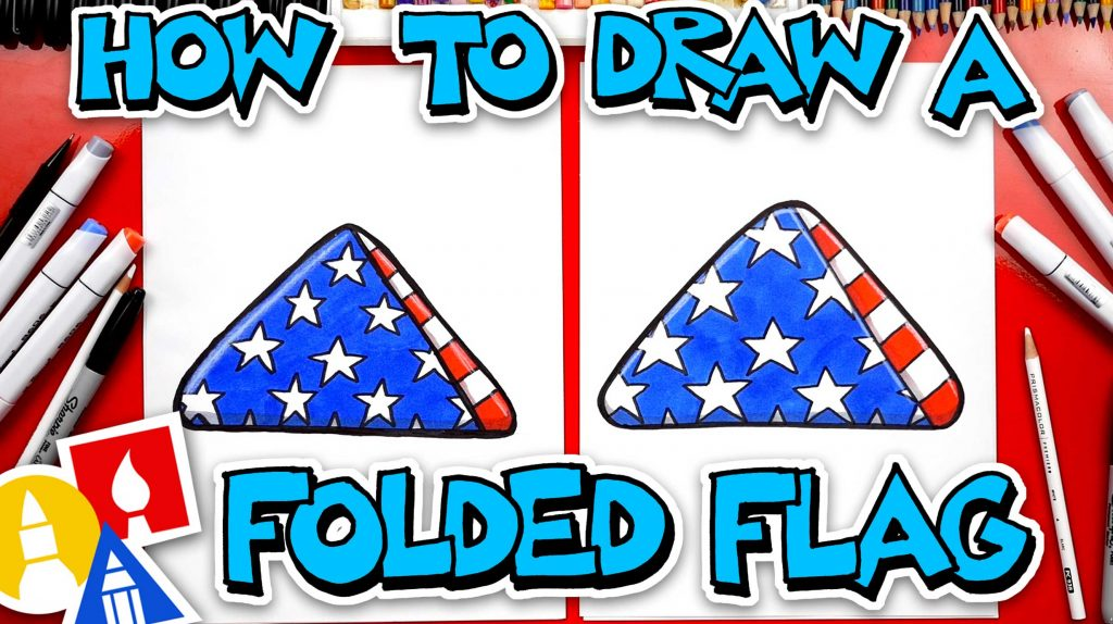 How To Draw A Folded Flag – Memorial Day