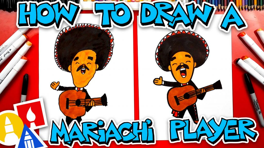 How To Draw A Mariachi Guitar Player