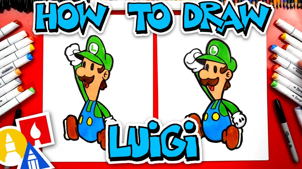 How To Draw Paper Luigi