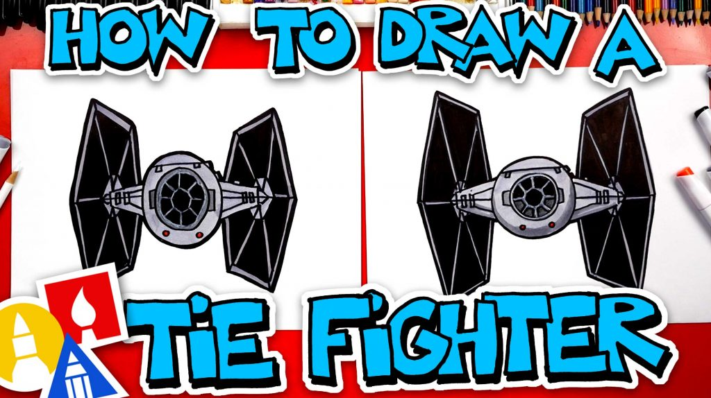 How To Draw A TIE Fighter From Star Wars