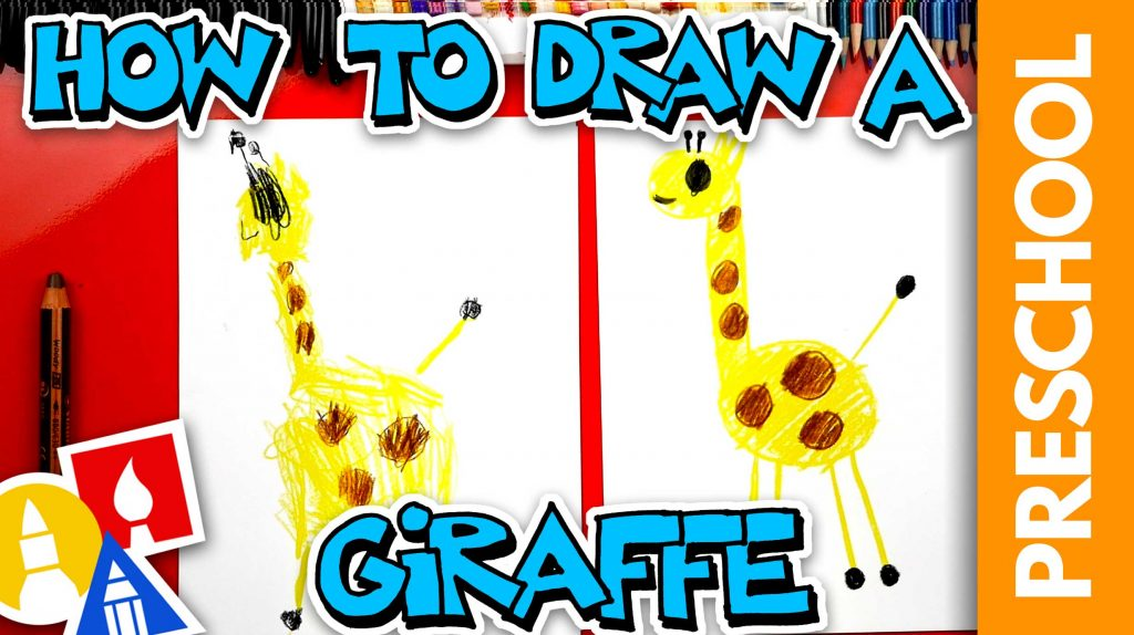 Drawing A Giraffe With Shapes – Preschool