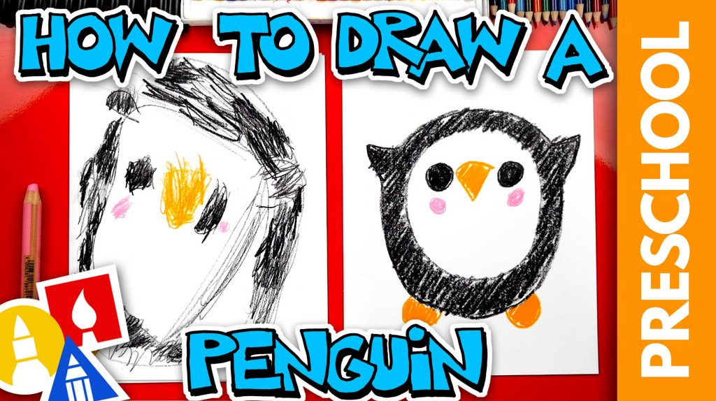 Drawing A Penguin With Shapes – Preschool