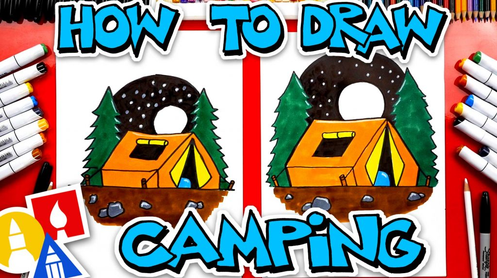How To Draw A Camping Tent